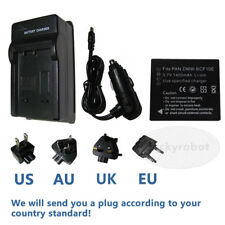 Battery+charger for PANASONIC Lumix DMC-F2 CGA-S/106C camera