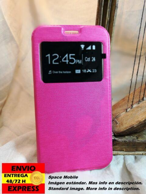 Funda Tapa Libro (Cover Case) Samsung Galaxy S4 [Fucsia / Fuchsia]