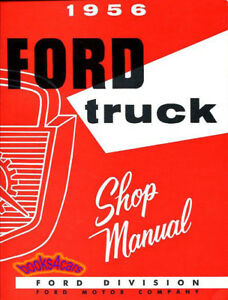 Shop manual service repair book 1956 ford truck f100 f250 f350 image is loading shop manual service repair book 1956 ford truck freerunsca Images