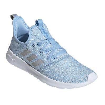 adidas Cloudfoam Pure Sneakers Women's Light Blue Grey NEW | eBay