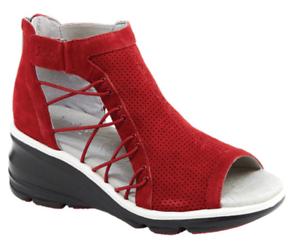 Jambu-Naomi-Red-Heel-Wedge-Athleisure-Sandal-Women-039-s-size-7-5-NEW