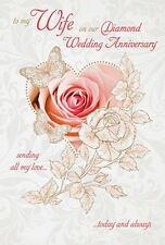 To my wife on our 60th diamond wedding anniversary card verse made 60th 60 diamond wedding anniversary greeting card mum dad wife husband m4hsunfo