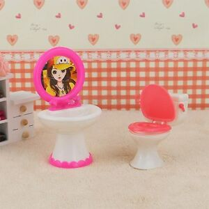 barbie doll house furniture sets. Image Is Loading Doll-House-Dollhouse-Furniture-Bathroom-Set-Toilet-and- Barbie Doll House Furniture Sets S