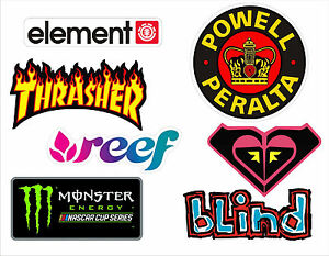 7-pegatinas-Skate-Snow-Surf-Thrasher-Monster-Element-Roxy-Blind-Reef