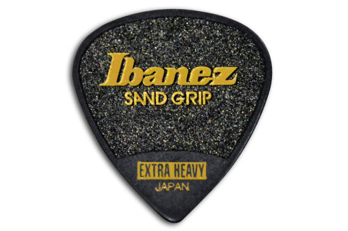 Ibanez Flat Pick 6 Pack PPA16XSG-BK Sand Grip 1,2 mm