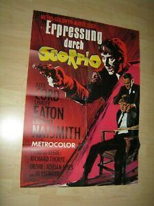 Erpressung durch Skorpio-Shirley Eaton Orginal A1 Kinoplakat