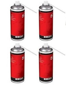 4-x-Air-Duster-Cans-5-Star-HFC-Free-Compressed-Gas-Flammable-400ml