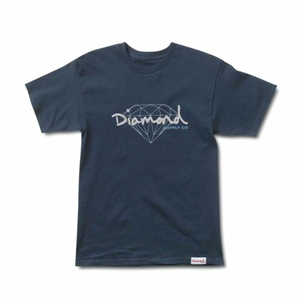 Diamond Supply Co Brilliant Script T-shirt blue