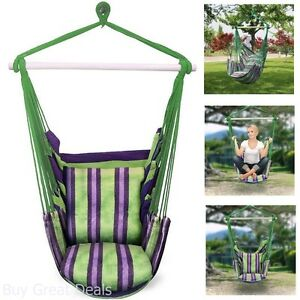 Image Is Loading Hanging Swing Chair Hammock Outdoor Spaces Indoor Rope