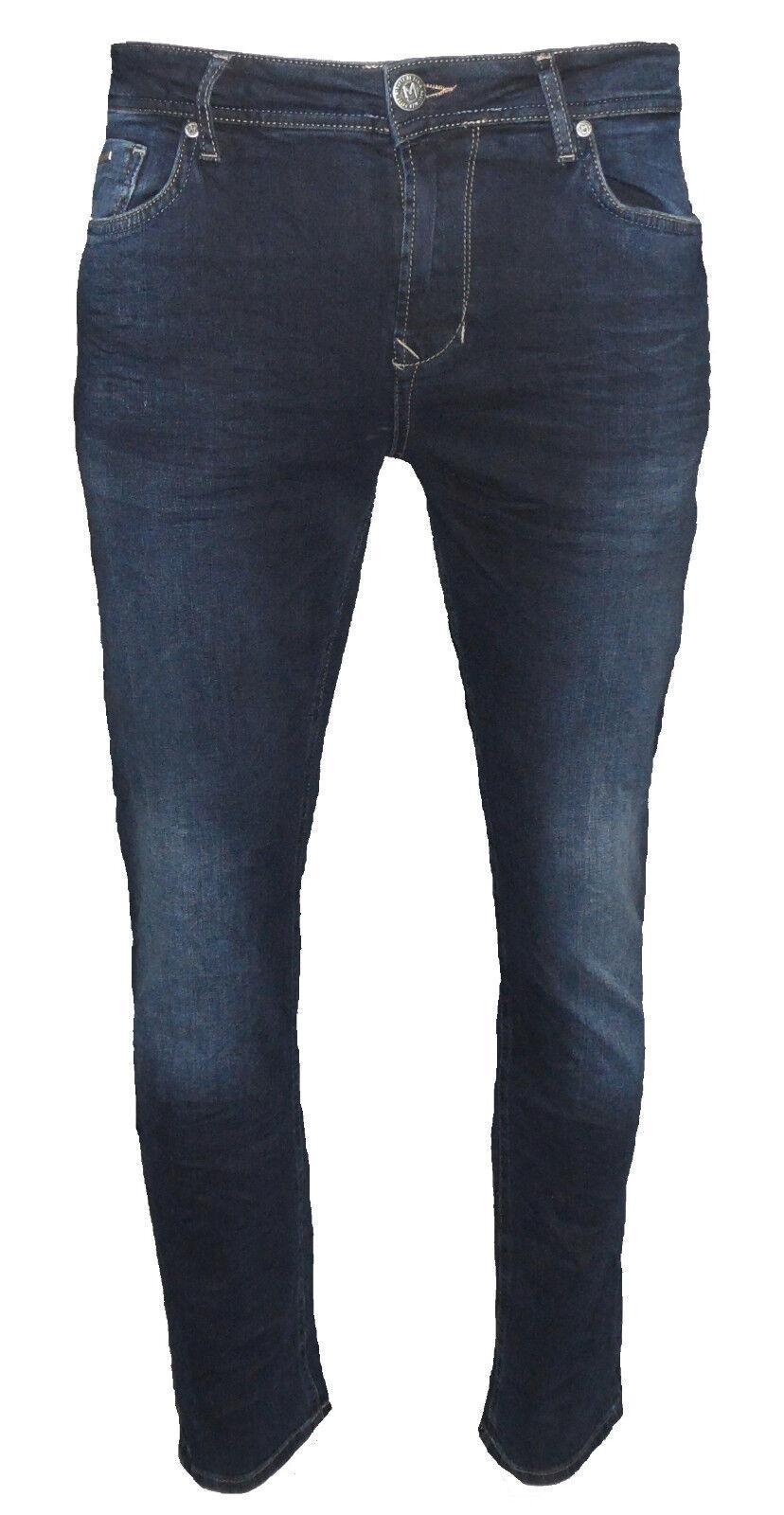 M.O.D Herren Jeans Cornell Slim Marine Blau