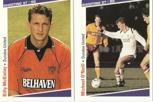 DUNDEE United Football Cartes étoiles filantes Merlin Publishing Ltd 1991//2 x 13
