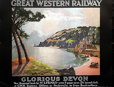 GLORIOUS DEVON  GWR Vintage Deco Railway/Travel Poster A1,A2,A3,A4 Sizes