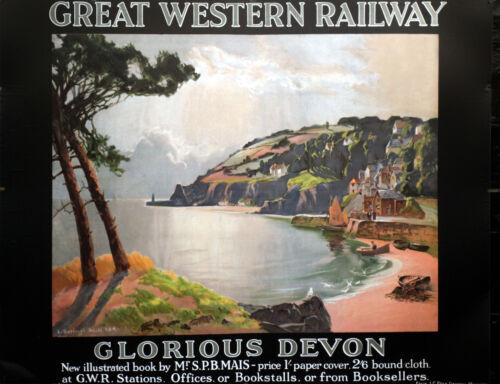 GLORIOUS DEVON  GWR Vintage Deco Railway//Travel Poster A1,A2,A3,A4 Sizes