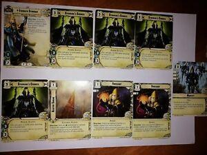 Warhammer conquest cartas juego Eldar líder con firma 12 Tarjetas de menta