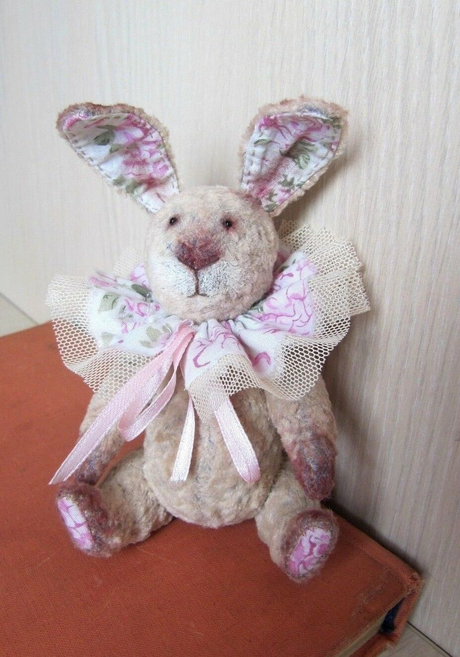 Artist Teddy bunny OOAK  Collectible  Handmade, antique, vintage.