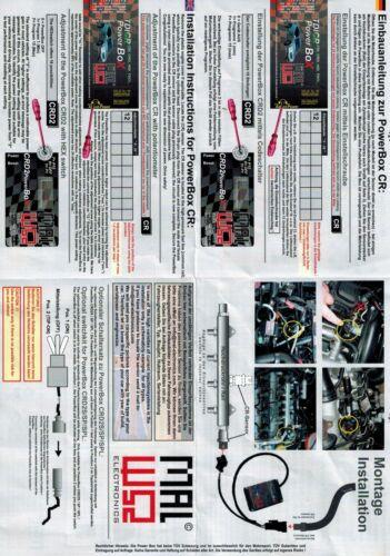 Für Audi A1 8X A3 8P A4 8E B7 Common Rail Diesel TDI CR Power Box Chip Tuning