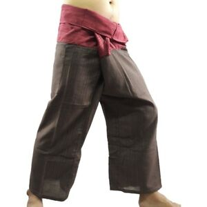 57ee578f9d Image is loading Free-Size-Thai-Fisherman-Pants-Cotton-Harem-Yoga-