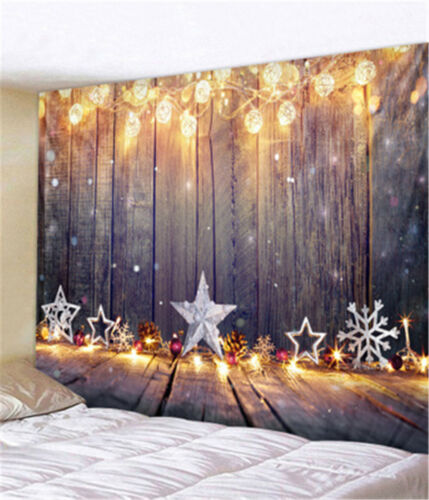 Hippie Christmas Tapestry Psychedelic Wall Hanging Throw Tapestries Home Decor