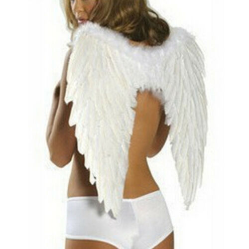 Kid Adult Angel Wings Fancy Dress Fairy Feather Outfit Party Halloween Decor
