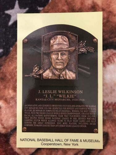 J.L Baseball Hall of Fame Induction Plaque Wilkie Photo Wilkinson Postcard