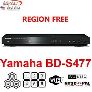 yamaha bd s477 multi region free dvd blu ray disc player. Black Bedroom Furniture Sets. Home Design Ideas
