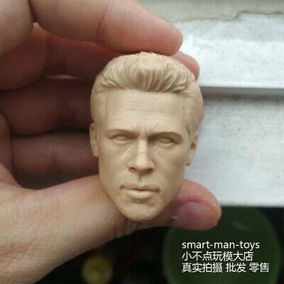 Custom 1//6 scale head sculpt  Brad Pitt,In stock!