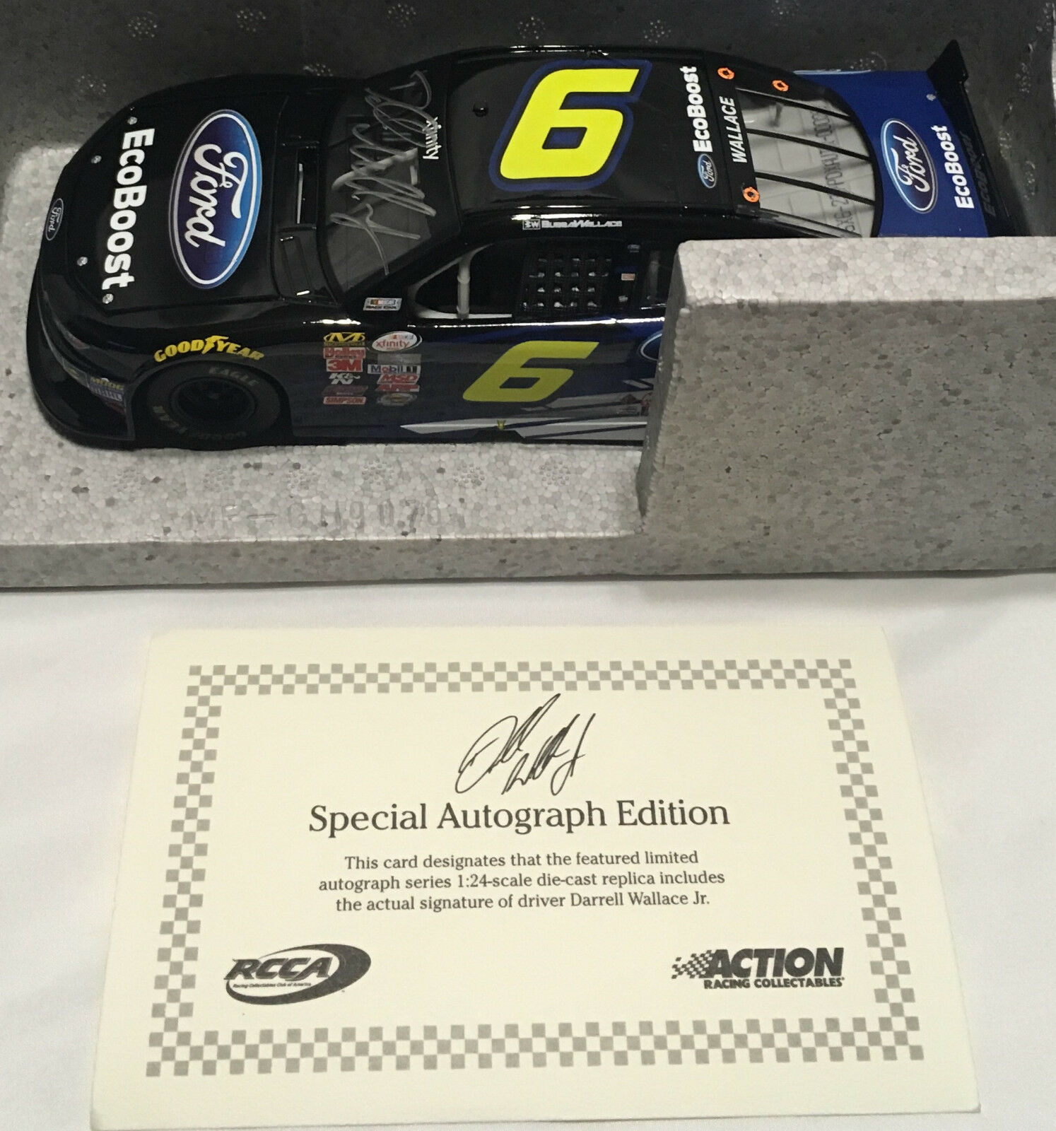 2015 1 24 Darrell Bubba Wallace Jr EcoBoost Mustang Autographed  60 RARE