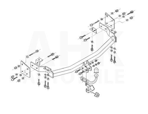 Für Hyundai Santa Fe I SM Anhängerkupplung starr ABE