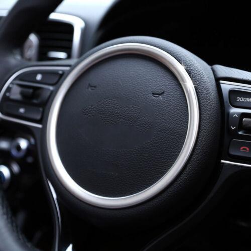 Chrome Steering Wheel Panel Cover Badge Insert Trim Ring For Kia Sportage 2017