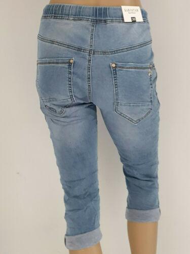 Karostar weiche Capri Bermuda Jeans Jogg Pants Jogging Style Gr 38,40