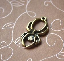 Antique gold charm spider – pack of 10