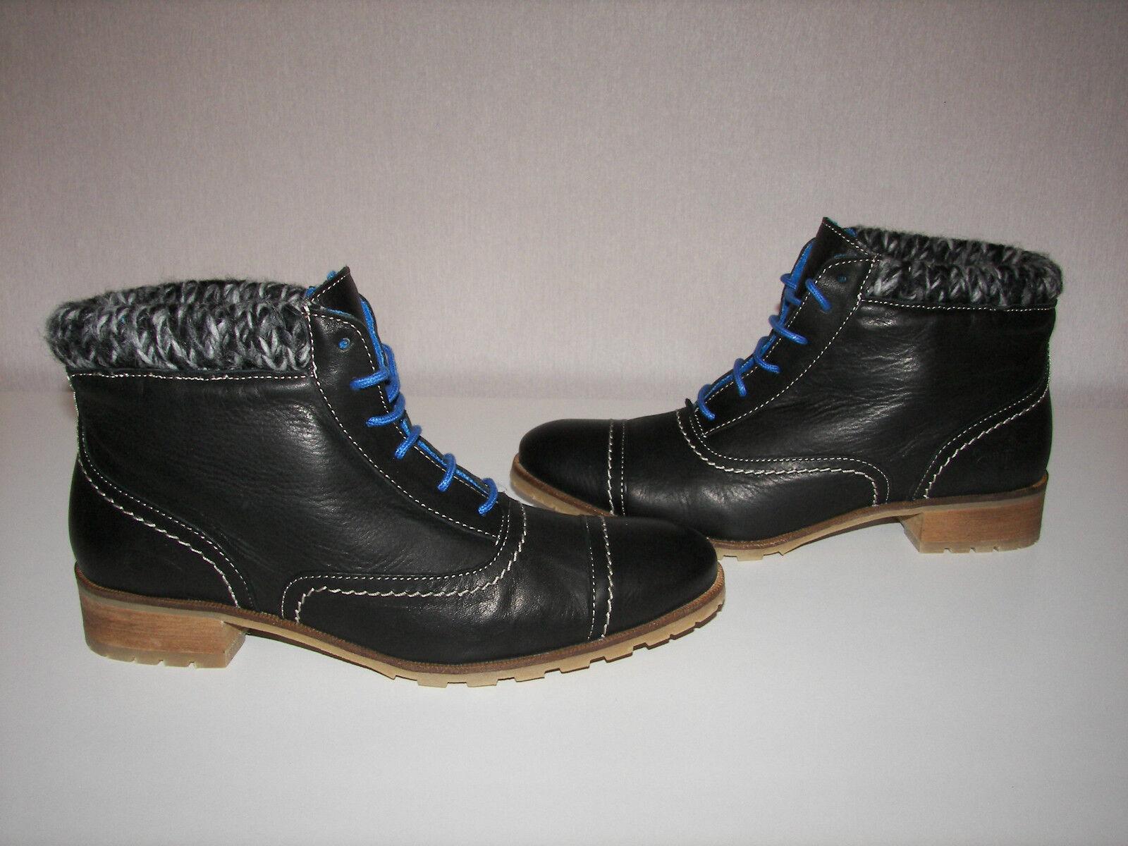 Shoot nuevo con cordones negro botas nuevo Shoot 1418da