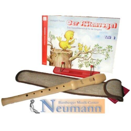Hopf 46 Blockflöte Sopran C Holz deutsche Griffweise