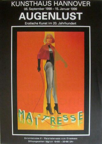 NEU Augenlust Ausstellungsplakate 3er SET 1998 Pop Art Grafik
