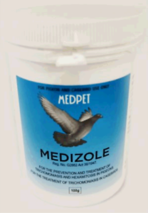 MEDIZOLE - PREVENTION & TREATMENT OF TRICHOMONIASIS IN PIGEONS