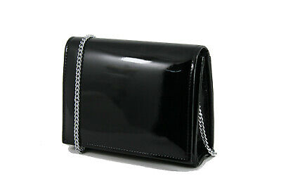 Details about  /LONI Clutch Mini Crossbody Bag with Wristlet and Chain in Faux Suede or Patent