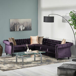 Amberside-6-Seater-Velvet-Tufted-Chesterfield-Sectional