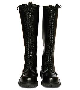 30 Loch Boots Springerstiefel Schwarz Stiefel 37 38 39 40 41 42 43 44 45 46 47