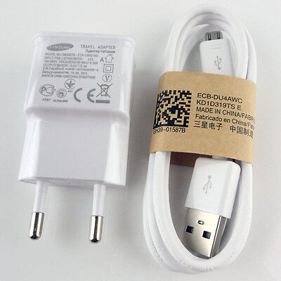 Original EU Wall Charger+USB Data Cable For SamSung Galaxy Note 2 II N7100 S4 S3