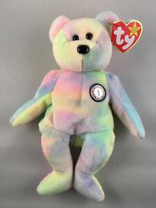 B.B. BEAR the Birthday Bear - Ty Beanie Baby with Tag Errors / Oddities