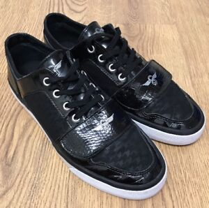 aa24494b36d Details about Creative Recreation Mens Black Lace Up & Strap Trainers Size  UK 9