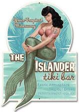 Bettie Page Mermaid Pin Up Girl Metal Sign Man Cave Garage Shop Club Bar TINBPIS