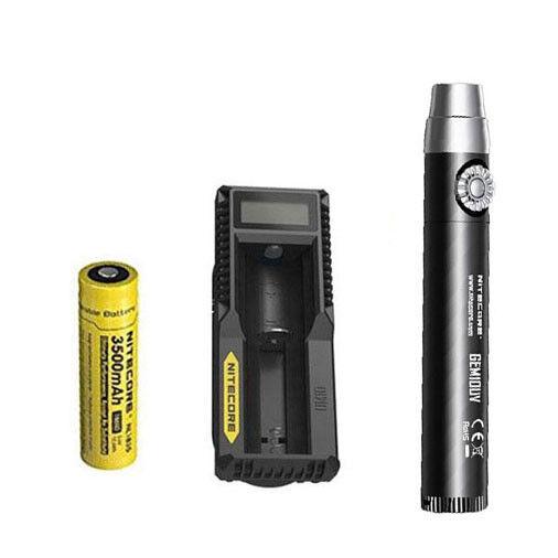 Nitecore GEM10UV GEM IDENTIFICATION Flashlight w NL1835 Battery + UM10 Charger