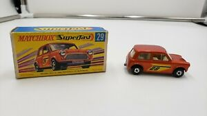 Raro-Matchbox-Superfast-29-Racing-Mini-Naranja