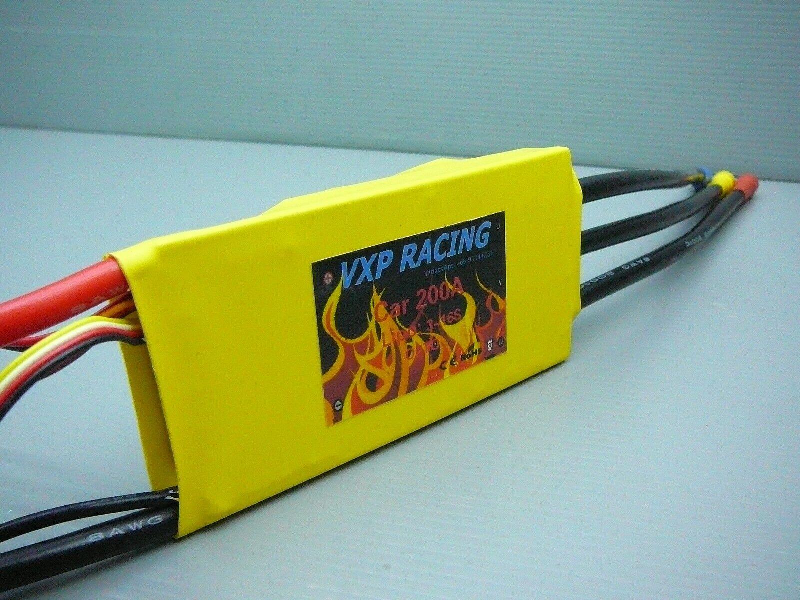 VXP Racing High Power Voltage 200A ESC 3-16S LiPo 1/8 1/7 EP Car