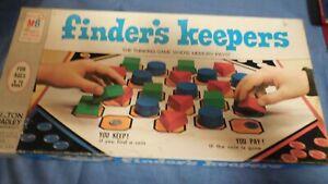 Vintage-1969-Milton-Bradley-Finder-039-s-Keepers-Board-Game