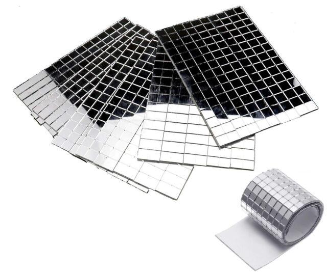 600 Small Silver Self Adhesive Mirror Mosaic Tiles 5mm