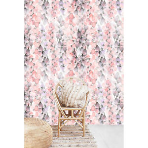 Watercolor-Flowers-Petals-wall-decor-Floral-removable-wallpaper-self-adhesive