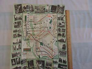 Bmt Subway Map.Details About Rare Original 1939 Worlds Fair New York City Bmt Subway Map Brochure Brooklyn