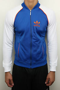 ADIDAS SUPERSTAR TRACK TOP DARK ROYAL VAPOUR MENS TRACK JACKET ZIP ... 8dd12f69ec90b
